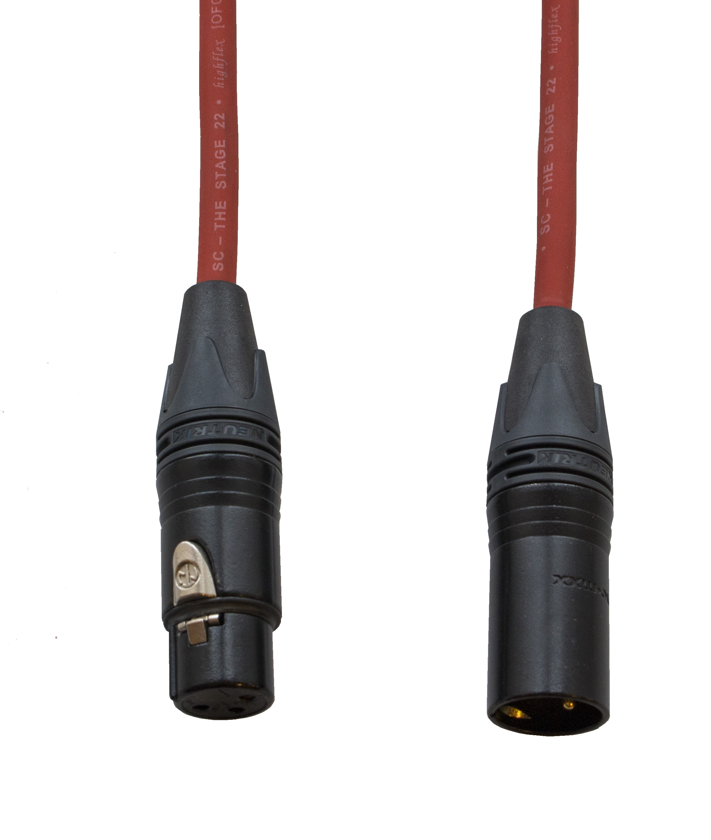Audiokabel XLR konektor Neutrik poz. male/female  50 m, Sommer červený