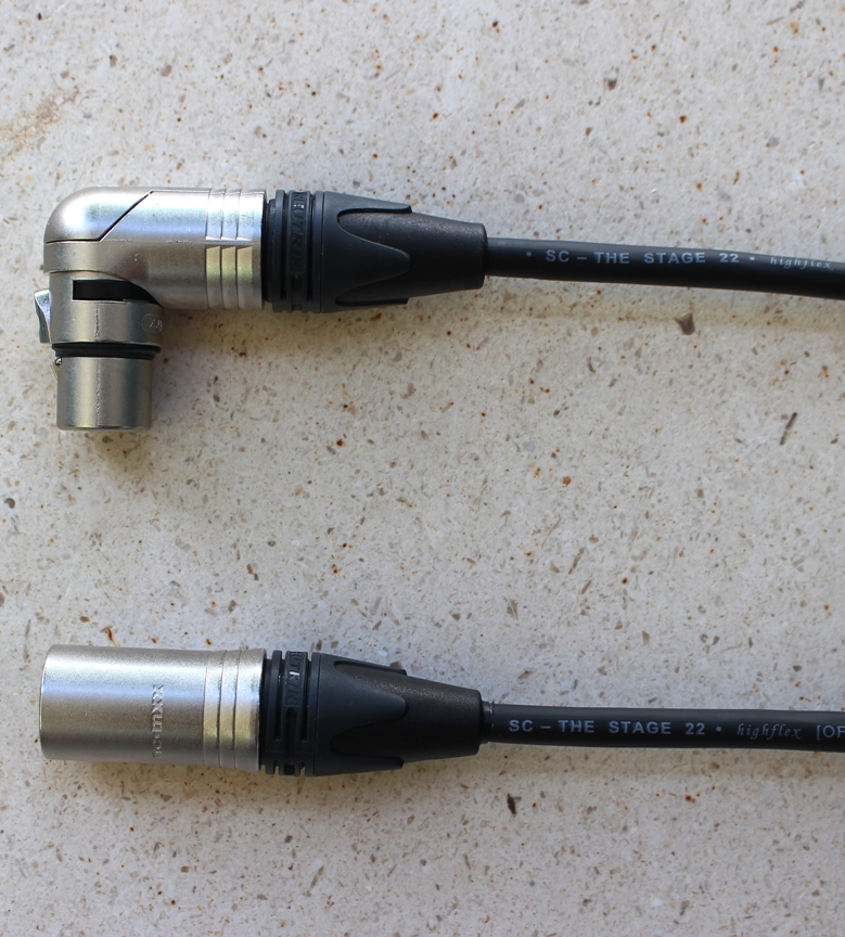 Audiokabel XLR Neutrik male/female úhel 7 m, SommerCable, černý