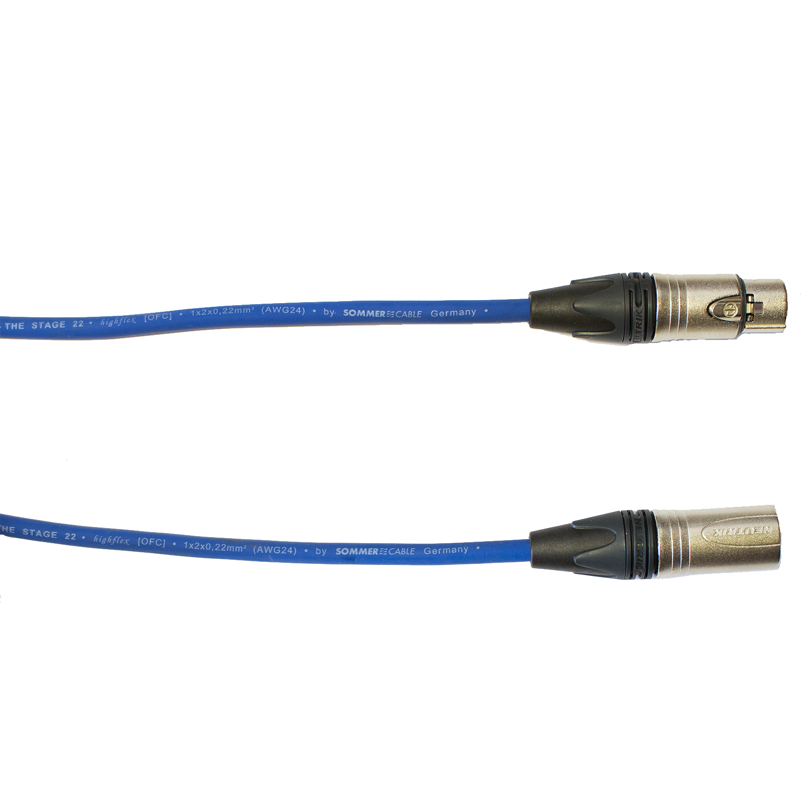 Audiokabel XLR konektor Neutrik male/female  15 m, Sommer, modrý