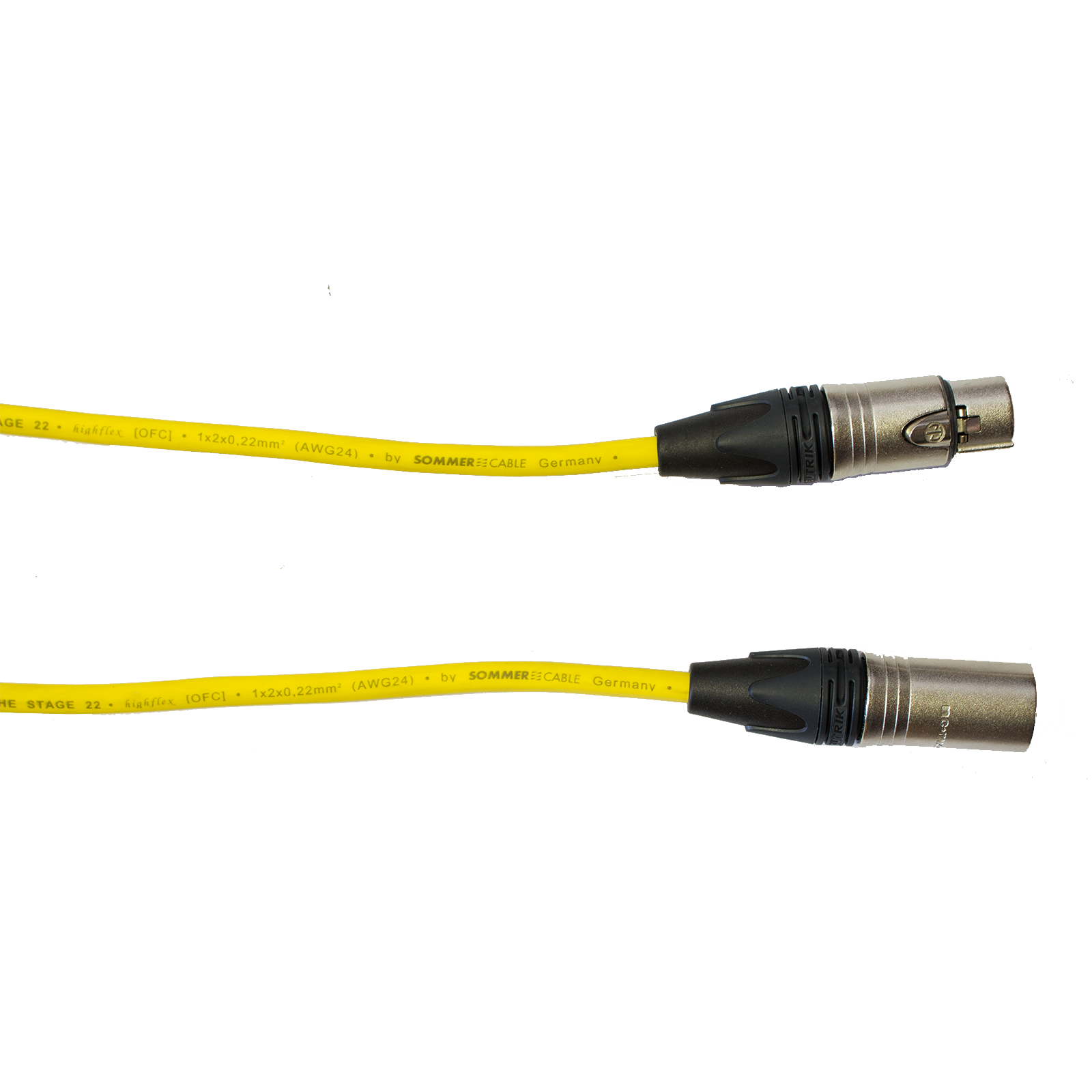 Audiokabel XLR konektor Neutrik male/female  1 m, Sommer, žlutý