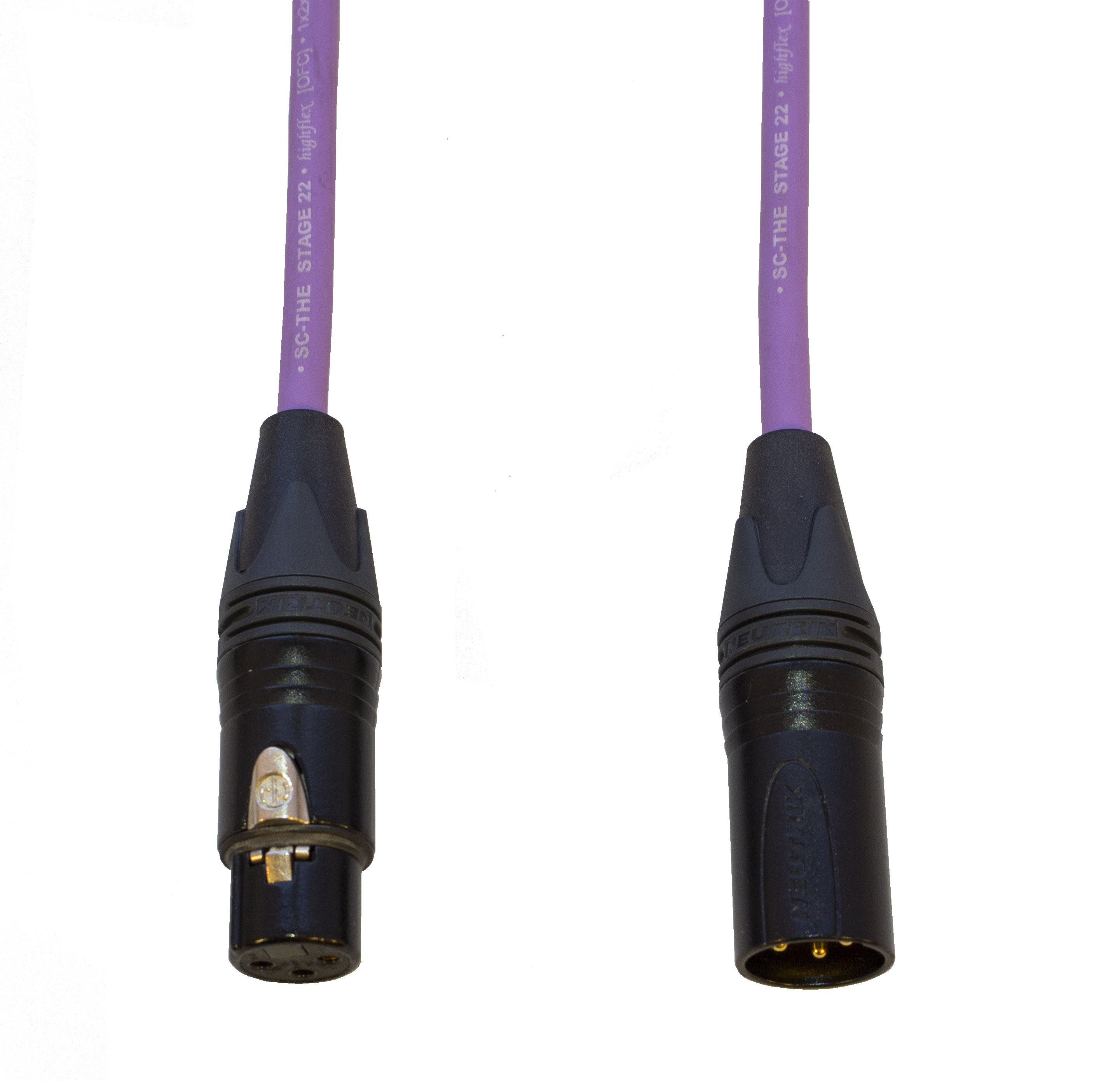 Audiokabel XLR konektor Neutrik poz. male/female  3 m, Sommer, fialový