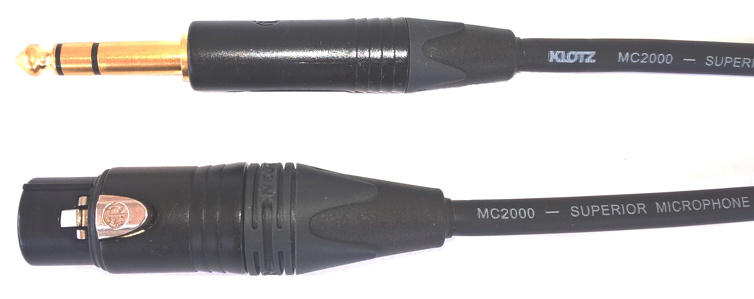 Audiokabel JACK 6,3 TRS/ XLR female, 0,5m, MC2000