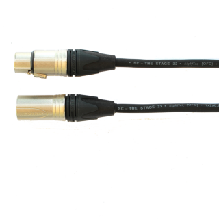Audiokabel XLR konektor Neutrik male/female  3 m, Sommer, černý