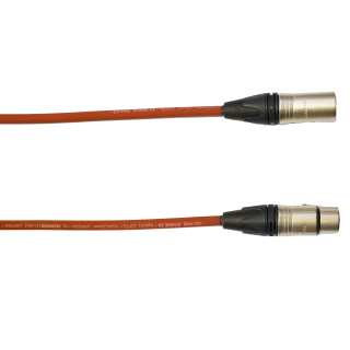 Audiokabel XLR konektor Neutrik male/female  4 m, Sommer, červený