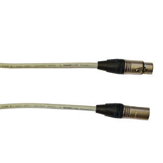 Audiokabel XLR konektor Neutrik male/female  10 m, Sommer, šedý