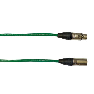 Audiokabel XLR konektor Neutrik male/female  3 m, Sommer, zelený