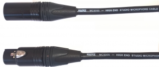 Audiokabel XLR konektor male/female 1 m, Klotz MC5000