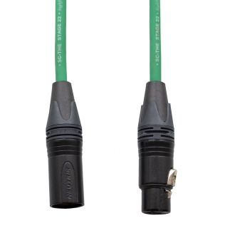 Audiokabel XLR konektor Neutrik poz. male/female  3 m, Sommer, zelený