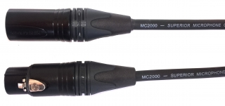 Audiokabel XLR konektor male/ female 0,5m, MC2000